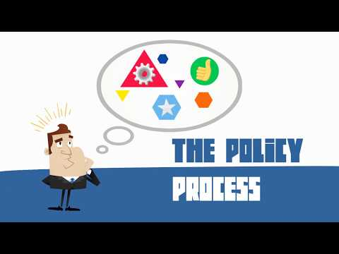 The (public) policy making process