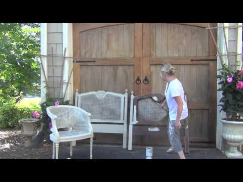 Annie Sloan Chalk Paint  Painting Cane Tutorial  YouTube