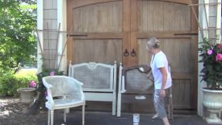 Annie Sloan Chalk Paint - Painting Cane Tutorial