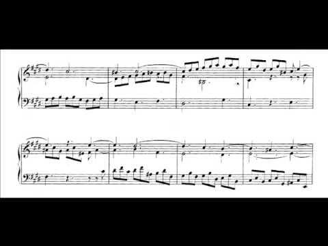 Bach, sinfonia bwv 792 in mi maggiore (score) mp3