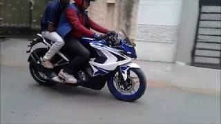 All new BAJAJ RS 200 ( White & Blue Colour ) BSIV Full Review