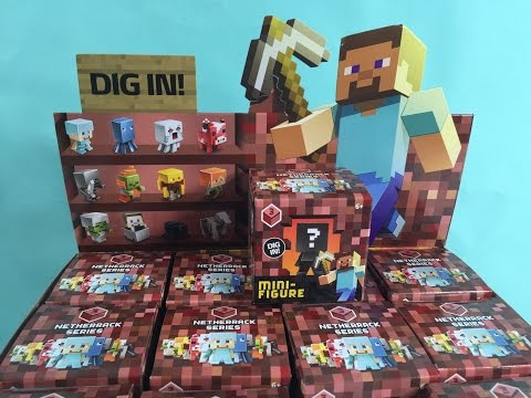 Minecraft Netherrack Series 3 Full Set Collection Unboxing | PSToyReviews