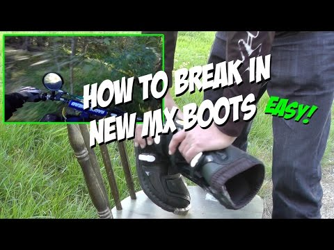 How to Break In New MX Boots