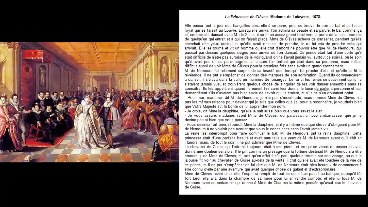 La Princesse de Clèves, Un bal à la cour, deux commentaires littéraires, La Fayette, EAF 2022