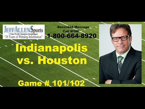 FREE PICK: Indianapolis #Colts Vs. Houston #Texans