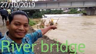 Dimapur barma camp bridge flood vlogs 27/10/19