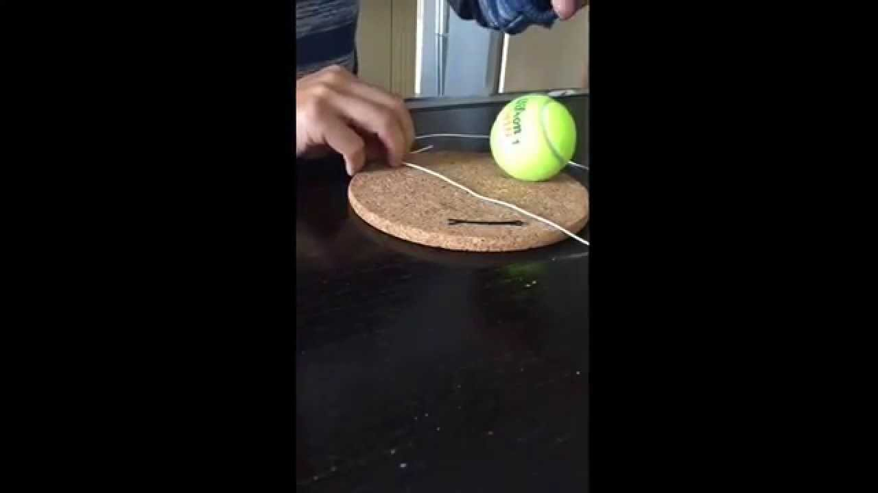 Making Punching Boxing Tennis Ball With Elastic Cord Tutorial