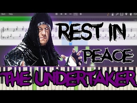The Undertaker Theme | Rest In Peace | Piano | Tutorial | Wwe | Live Music