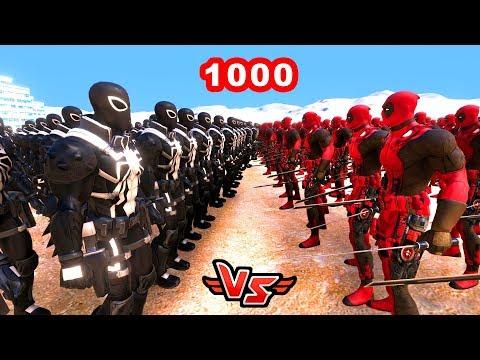 1000 DEADPOOL VS 1000 AJAN VENOM 😱 - Süper Kahramanlar