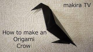 How To Make An Origami Crow 簡単 折り紙 カラスの折り方