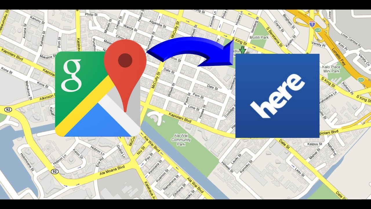 How To ShareSend Any Location From Google Maps To HERESygic Maps - Google maps to and from