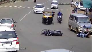 Horrible Bike Crash | Road Accidents Caught By Live Cctv | Most Dangerous Live Accidents