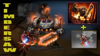 Dota 2 Plus Timbersaw Best Mix Set With Immortal (Siege Engine-Controlled Burn)