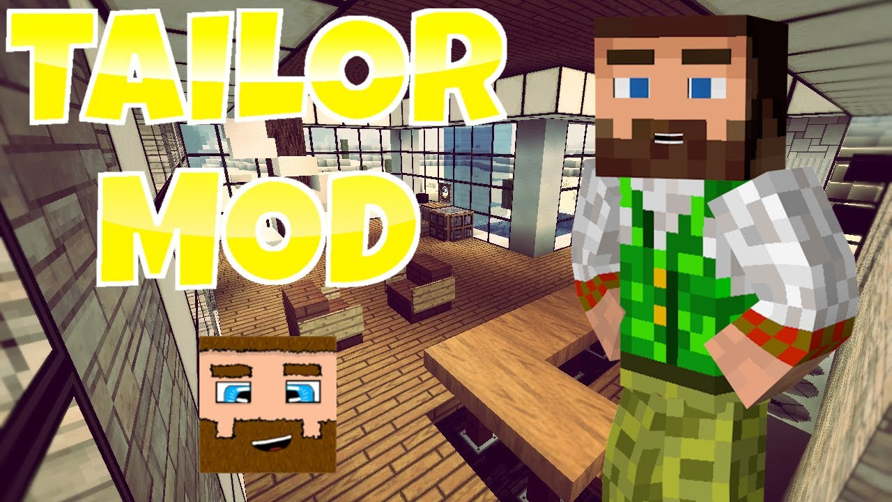 minecraft tailor mod   new clothing in minecraft   youtube