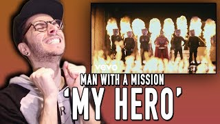 "Today I react to the new song ""My Hero"" by MAN WITH A MISSION!!! Bu..."