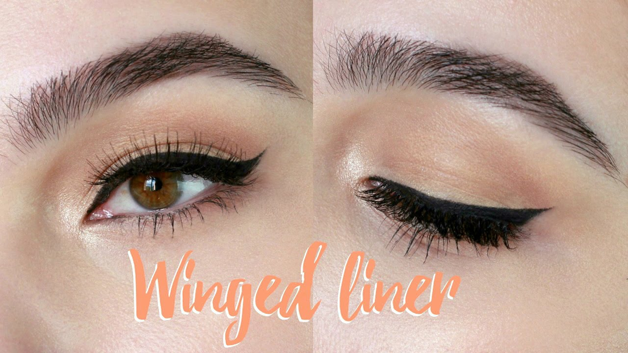 HOW TO: Apply Winged Eyeliner With Gel For Beginners + Small ...