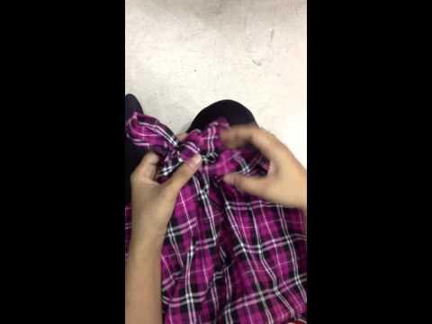 วิธีการผูกโบว์ How to tie a bow ribbon.