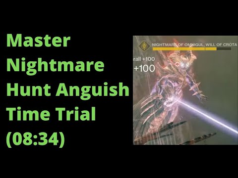 Master Nightmare Hunt Anguish Time Trial (Destiny 2) - 08:34