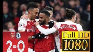 Arsenal Vs Chelsea 2 - 0 - Full Highlights - English Commentary - 2019