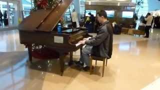 O Holy Night - San Jose International Airport piano