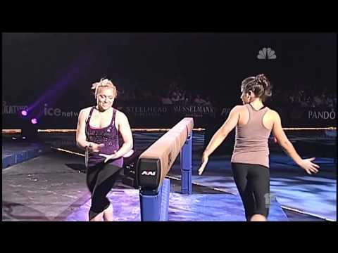 Courtney Kupets & Courtney McCool Beam & Floor/Dance Exhibition 2012 720p