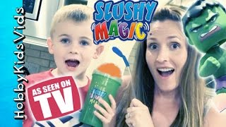 Slushy Magic With Hulk! Gatorade, Cola + Bloopers. Lemonade As Seen On Tv Icee Hobbykidsvids