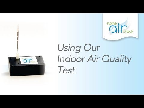 Using Our Indoor Air Quality Test - YouTube