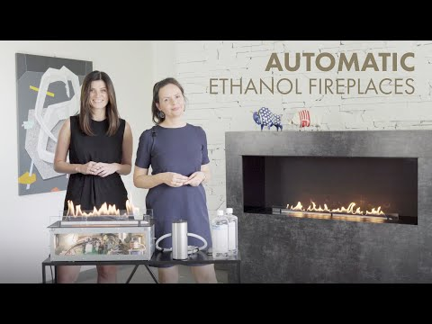 Automatic Ethanol Fireplaces with vapour-burning technology - Developed for architects by Planika