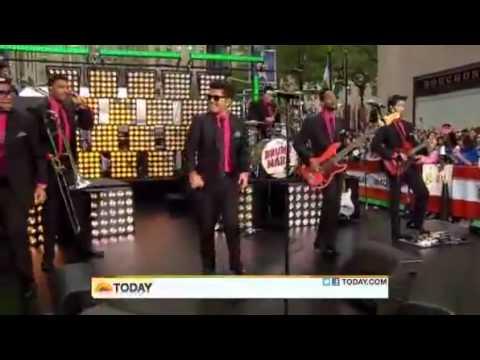 Bruno Mars~Runaway Baby @ The Today Show