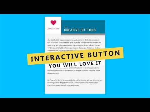 Interactive Creative Button Effect Using HTML, CSS 3 - Web Design Tutorial