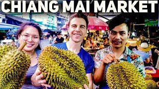 Biggest Chiang Mai Fruit Market | ตลาดที่ใหญ่ที่สุดในเชียงใหม่และอาหารเหนือรสเด็ด