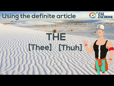 The definite article 'The' | Basic English