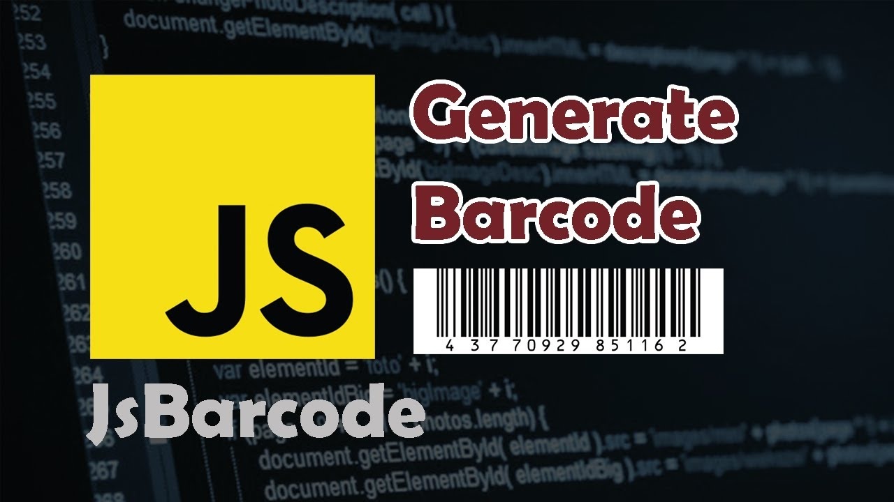 How to Generate Barcode in the Browser using Javascript
