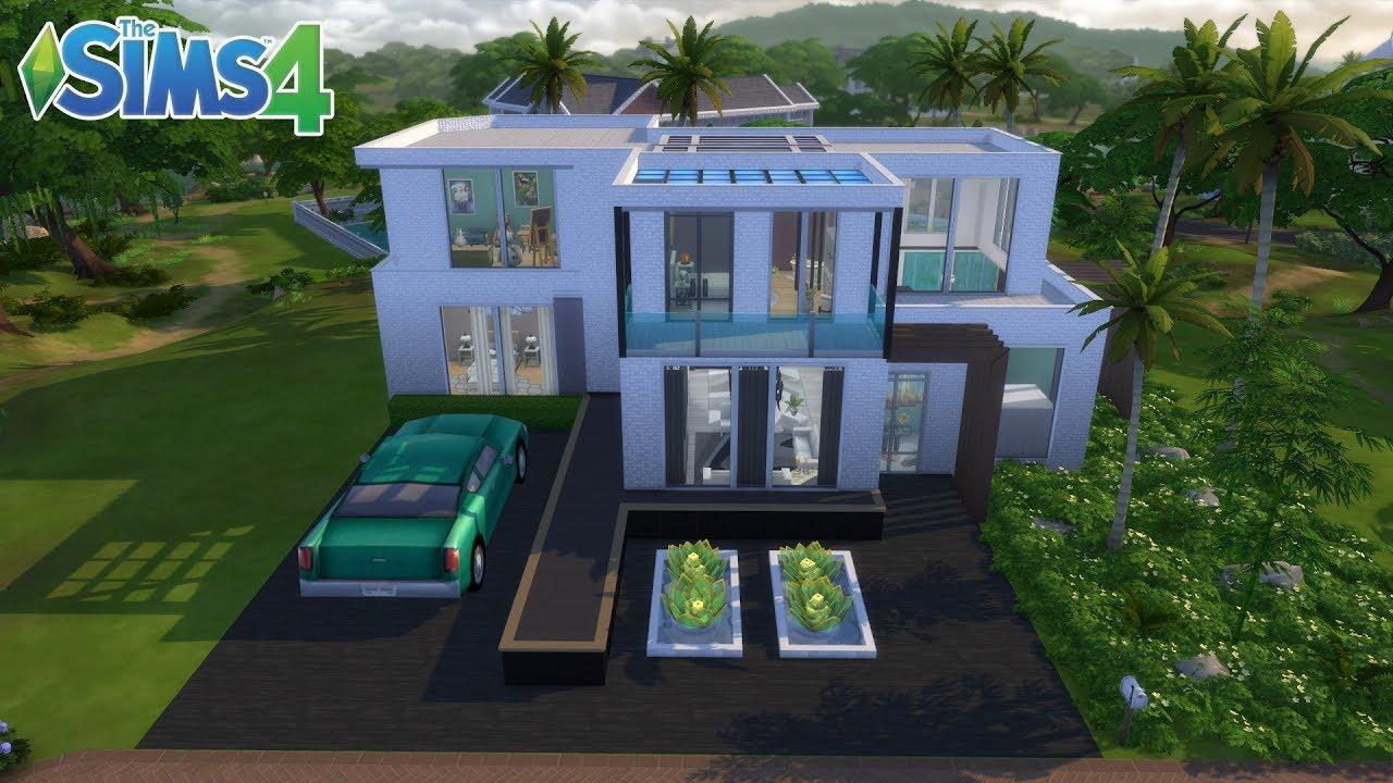 Les Sims 4 : Maison Moderne ( Jeu de base + Packs d'extensions) - YouTube