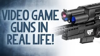 Video Game Guns in Real Life! - Reality Check
