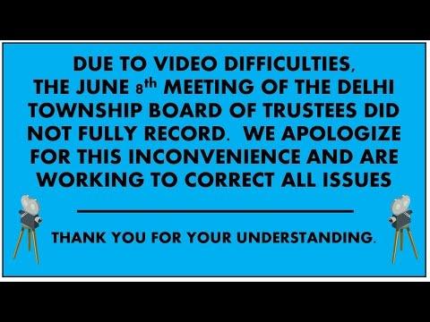 06-08-2016 Delhi Township Board of Trustees
