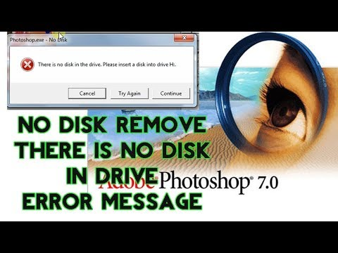 100%How to remove  this = there  is no disk in the drive. please insert a disk into drive D