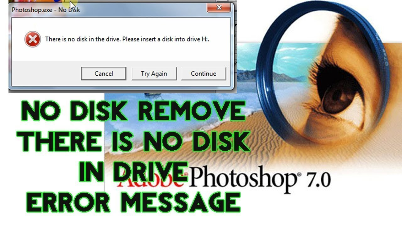Fix // There is no disk in the drive . please insert a disk into