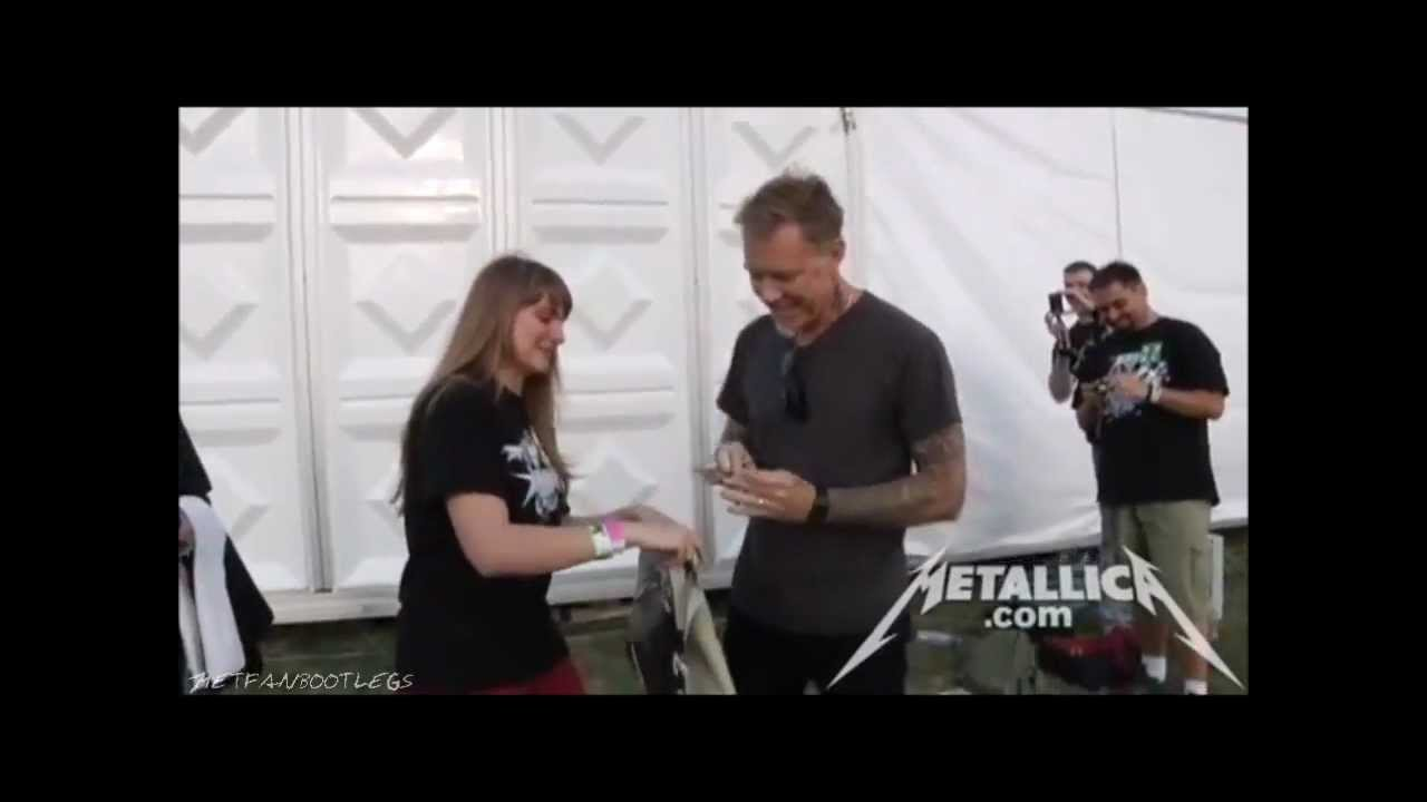Metallica Meet And Greet With James Warsaw May 10 2012 Hd Youtube