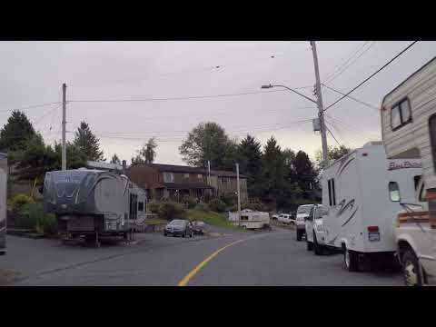 PORT McNeill BC (British Columbia) Canada - Driving On Vancouver Island - Small Town