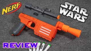 [REVIEW] Nerf Star Wars Han Solo Pistol | Unboxing, Review, & Firing Demo