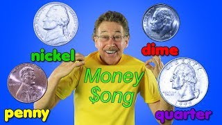 The Money Song | Penny, Nickel, Dime, Quarter | Jack Hartmann