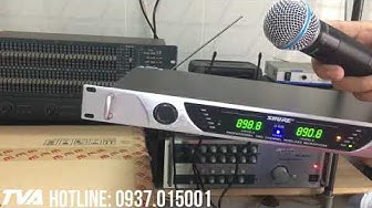 Tiếng Vang Audio   Hướng dẫn kết nối micro không dây Shure U-930 với Amply hát karaoke