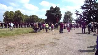Airborne Forces march past and salute Hardwick Hall 18-05-14