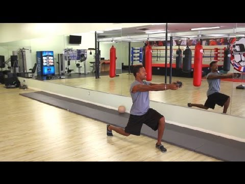 Twisting Dumbbell Lunges: Muscle Exercises
