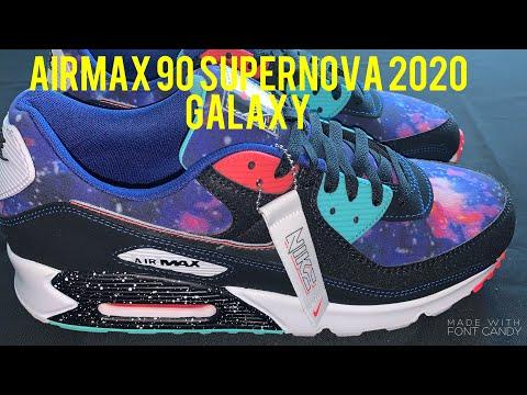 2020 Nike Supernova Air Max 90 Galaxy Shoe Review Youtube