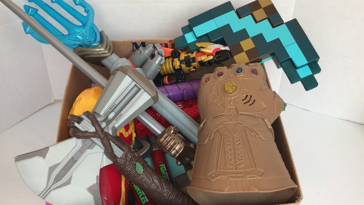 Box of Toys | Stormbreaker | Infinity Gauntlet | Aquaman's ...