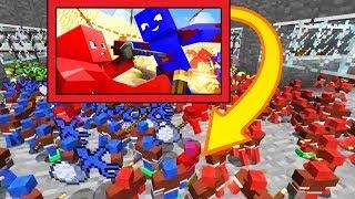 СИНЯЯ АРМИЯ ТЕРОСЕРА ПРОТИВ КРАСНОЙ АРМИИ ДЕМАСТЕРА БИТВА ГЛИНЯНЫХ АРМИЙ Minecraft Clay Soldier