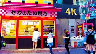 [東京池袋步道]快樂的飲食城♪4K ASMR不間斷1小時05分鐘