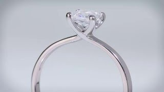 LUSSO - Princess Diamond Engagement Ring (P-H650)